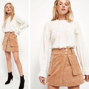 NWT Free People Carson Utility skirt Wrap Style 6